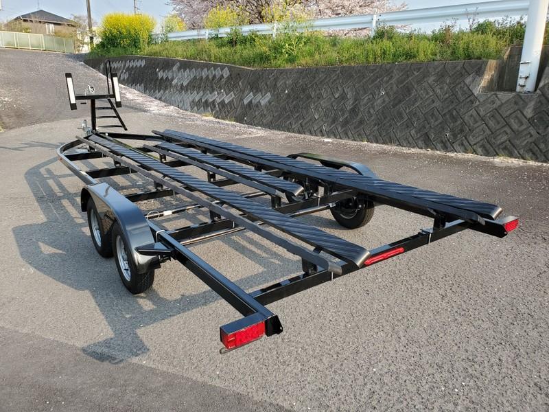 全長9m 全幅2.5m ジェット4艇積載可能!多目的トレーラー 新車 [通関証明あり]